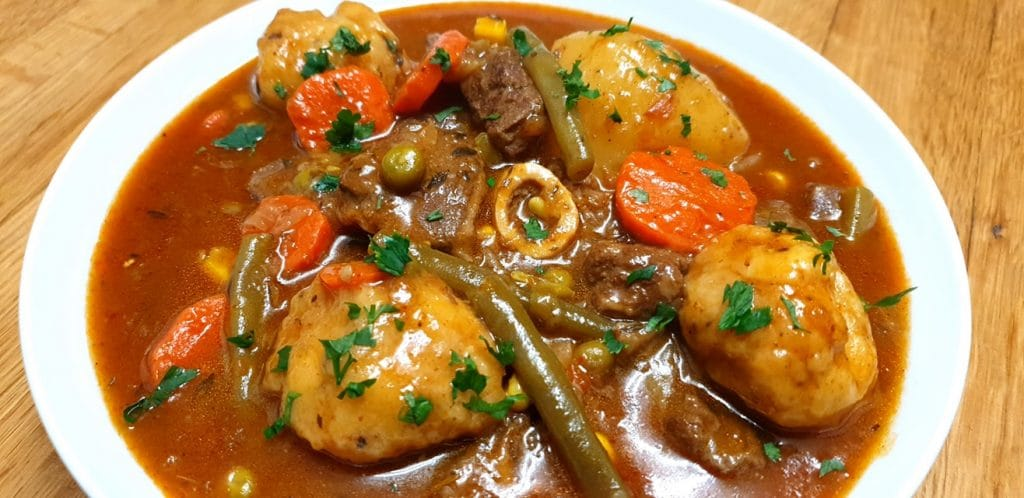 Curried Mutton Stew with Dumplings
